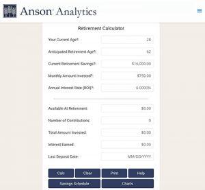 anson analytics free retirement calculator